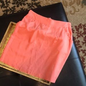 Coral casual skirt